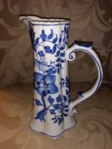 """Blue & White Floral Decorative Pitcher 8"""" - $31.97 CAD"""