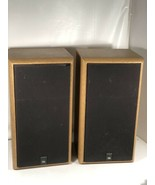 JBL 2600 Vintage Bookshelf Speakers Titanium Tweeters Wood Grain LookMad... - $148.49