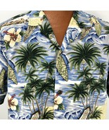 Royal Creations Hawaiian Aloha XL Shirt Surfboard Palm Trees Hibiscus Ou... - $44.54