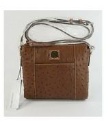 Dooney & Bourke Cognac Ostrich Leather Lexington Crossbody Bag NWT - $148.01