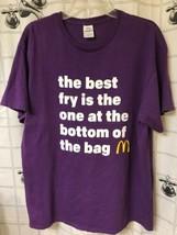 Adult XL MCDONALDS CLASSIC Best Fry GOLDEN ARCHES T-SHIRT Purple Rest. A... - $14.67