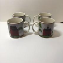 "4 Coffee Mugs Barns Warren Kimble Sakura 3.5"" - $29.02"