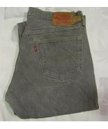 Levis Strauss 501 36 X 32 Mens Jeans XX Denim Faded Black Gray Cotton Heavy - $34.99