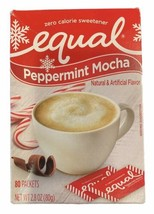 Equal Peppermint Mocha Flavored Sweetener 80ct Packets Holiday Flavor BB... - $14.84