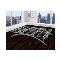 QUEEN SIZE PLATFORM BED FRAME Bedroom Furniture STEEL Metal Modern Room ... - $240.15