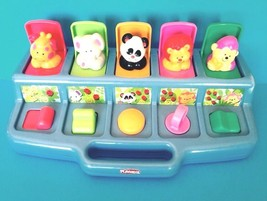 Vintage Teal Playskool Poppin' Pals Safari Animals Toy 1995 Hasbro #06205 - $17.75