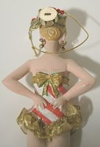 Candy Cane Striped Dancing Girl 8 Inch Christmas Ornament RK0013 image 3