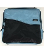 "Case it Blue & Black 1-1/2"" Rings Zipper Binder Case Book Bag Computer H... - $15.83"