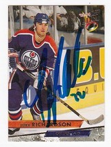LUKE RICHARDSON AUTOGRAPHED CARD 1993-94 FLEER ULTRA EDMONTON OILERS - $2.68