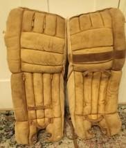 Vintage Cooper GP66 Ice Hockey Cowhide Goalie Leg Pads - $186.07