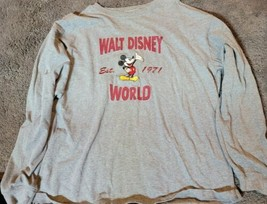 Walt Disney World Mickey Mouse Long Sleeve Tee Embroidered Large  - $25.95