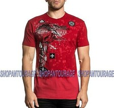 Affliction Torn Apart A20221 Short Sleeve Fashion Graphic T-shirt Top For Men - $56.43