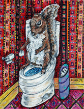 animal Art oil painting printed on canvas home decor SQUIRREL in the  - $14.99+