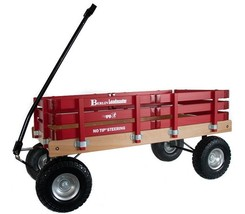 HEAVY DUTY LOADMASTER RED WAGON - Beach Garden Utility Cart AMISH MADE i... - $287.07