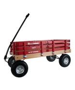 HEAVY DUTY LOADMASTER RED WAGON - Beach Garden Utility Cart AMISH MADE i... - $330.18