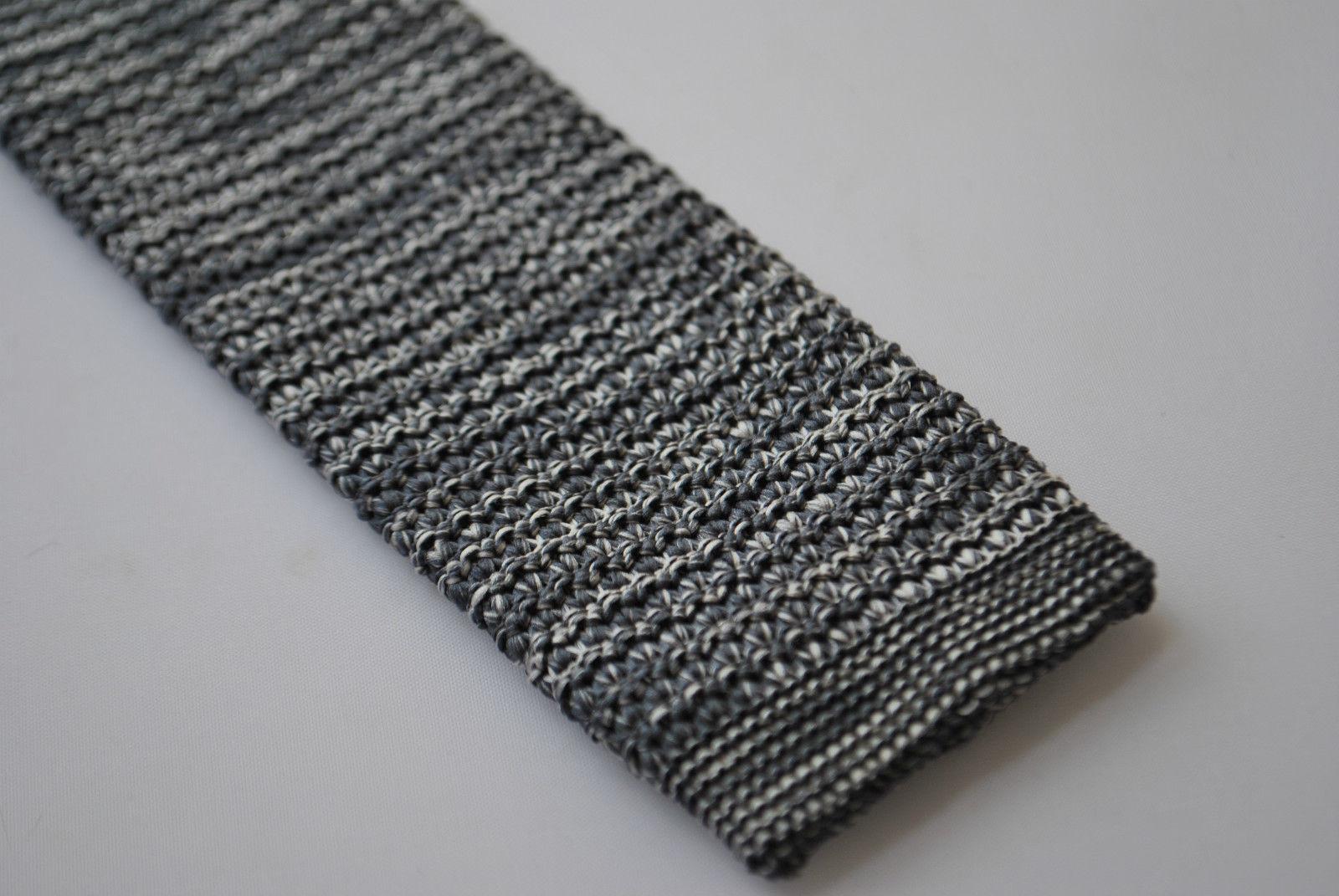 MACCHIETTATO grigio argento aderente maglia Cravatta da Frederick Thomas FT2000