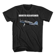 Brewster SB2A Buccaneer Aircraft Black T-Shirt size S-3XL - $18.95+