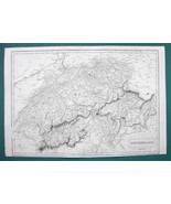 """SWITZERLAND - c. 1835 Original Map 11 x 16"""" (28 x 41cm) - $22.95"""