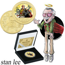 Remember Stan Lee's Captain Marvel Fans Gifts Collection Coin with Box+COA - $8.09