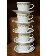 Corelle Livingware by Corning ~ Spring Blossom ~ Set of Five (5) Cups & ... - $35.64