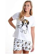Dog Beagle pajama set with shorts for women - $30.00