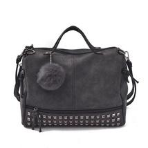 Bolish Vintage Nubuck Bag Handbag Shoulder Purse Satchel S Tote For Wome... - $63.20