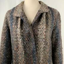 Vintage 70s MJ Seattle Jacket Coat Knit Boucle Yarn Multicolored Striped... - $64.30