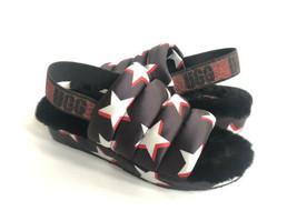 Ugg Puff Yeah Stars Black Stars Mocassin Slip On Sandal Us 8 / Eu 39 / Uk 6 - $98.18