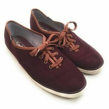 Keds Champion Women`s Size 8.5 Burgundy Red Purple Wool Blend Casual Sne... - $33.59 CAD