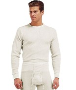 White Natural Cold Weather Winter Thermals Knit Underwear Shirt Top Long... - $11.99+