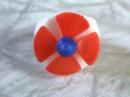 Propeller Plastic Children's Ring Vintage - $16.99