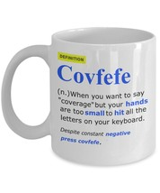 Covfefe Dictionary Definition Funny President Donald Trump Coffee Mug Tweet - $15.99