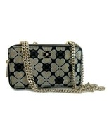 Kate Spade Chain Double Zip Crossbody Bag Odette Jacquard ~ Black & Gold NWT - $121.45
