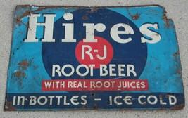 VINTAGE ADVERTISING HIRES ROOT BEER  METAL SODA SIGN  - $215.04