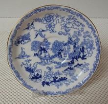 BLUE WILLOW Royal Albert Crown China REPLACEMENT SAUCER Bone England 1920's - $9.69
