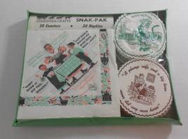 Vintage Pennsylvania Dutch Paper Cocktail Coasters Napkins Bar Set Germa... - $6.92