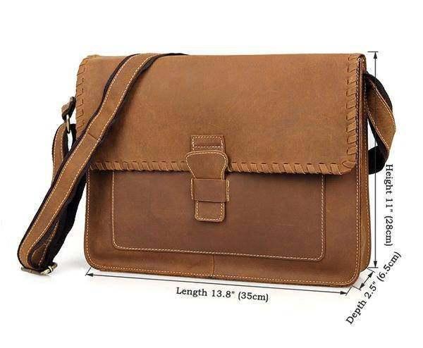 Sale, Vintage Messenger Bag, Leather Messenger Bag, Men's Fossil Messenger Bag
