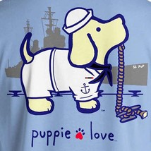 Puppie Love Rescue Dog Adult Unisex Short Sleeve Graphic T-Shirt, Navy Pup image 2