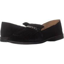 Franco Sarto Augustine Fringe Loafers 395, Black, 9.5 US / 39.5 EU - $30.71