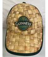Guinness Beer Baseball Trucker Hat Cap Straw Woven Snapback Limited Edition - $19.79