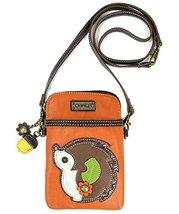 Chala 3 in 1 Phone Pouch / Crossbody Purse Bag -Vegan Leather (Orange Hedgehog)