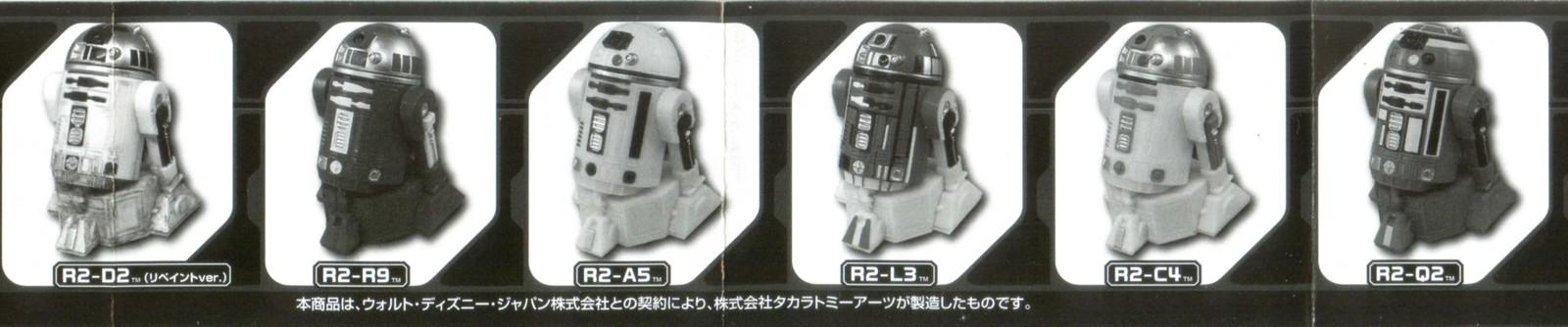 TAKARA TOMY STAR WARS Characters GACHA GALAXY PULLBACK DROID Phase 2 Full Set