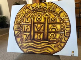 Print Not Painting Peru Gold Escudos Doubloon Fleet Shipwreck Treasure Coin - $195.00