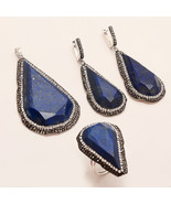 Afghan Lapis Lazuli Ring Pendant 925 Sterling Silver Women Fine New Year... - $58.79