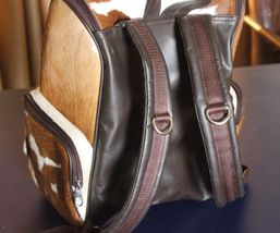 Cowhair Backpack natural leather ladies Genuine Cowhide Weekender Shoulder Bags image 3