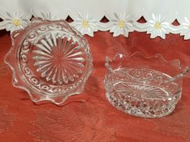 """PAIR OF CANDY DISH WIGGLY EDGE, CIRCLES AND STAR BOTTOM 4"""" X 2"""" image 6"""