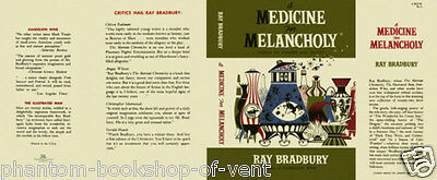 Ray Bradbury A MEDICINE FOR MELANCHOLY replication dust jacket FOR 1st ed.book