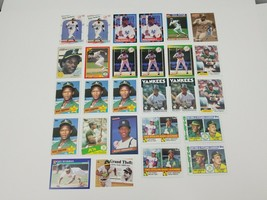 Rickey Henderson Lot of 27 Baseball Cards 1986 Donruss 1985 Topps 1986 1984 - $19.34