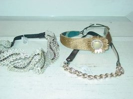 Urban Outfitters lot 3 headbands Deepa Gurnani gold chain sequins-NWT-$5... - €19,76 EUR
