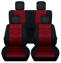 Front and Rear car seat covers Fits Jeep Wrangler JK 2007-2017 Paw prints - $179.99